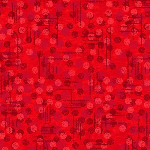 1230-88 108'' Blank Quilting Red Jot Dot