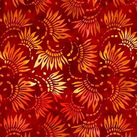 2086-353 108'' Wilmington Prints Red Petals Wide Backing