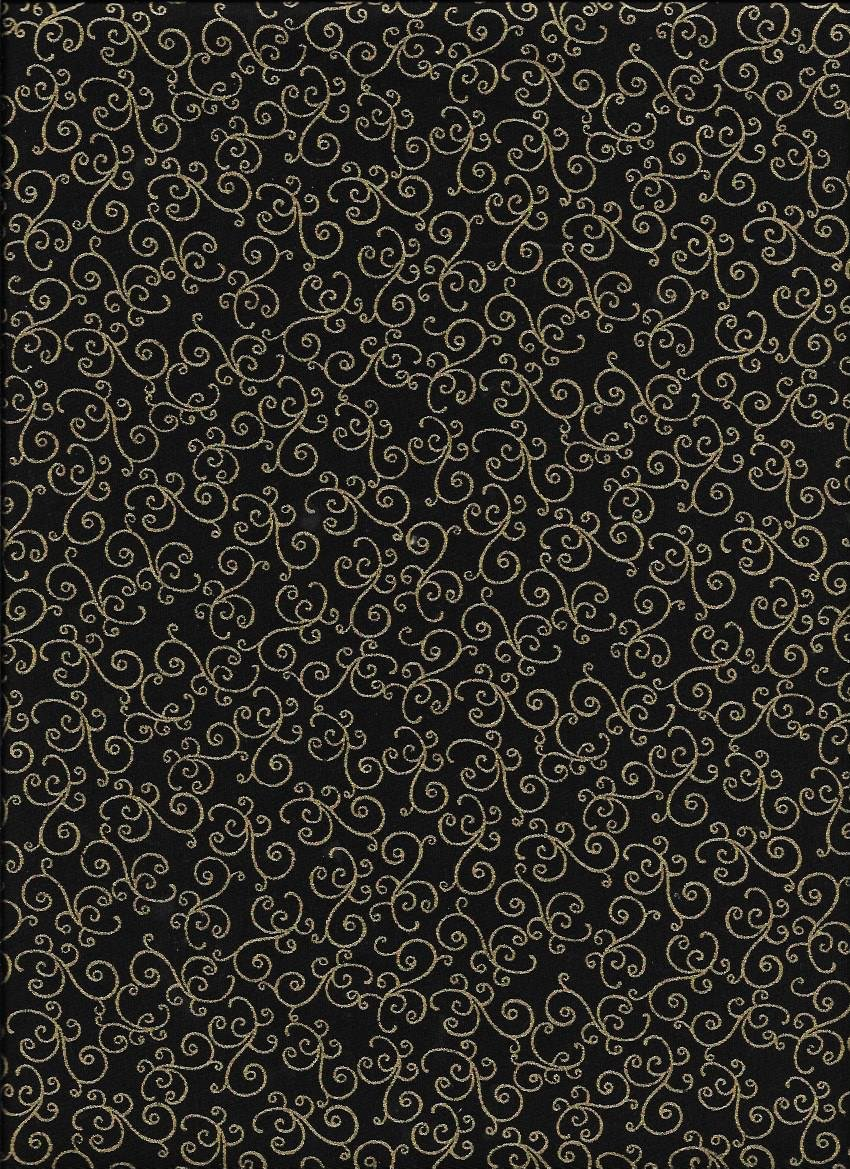 108'' Blank Quilting Brown Scroll