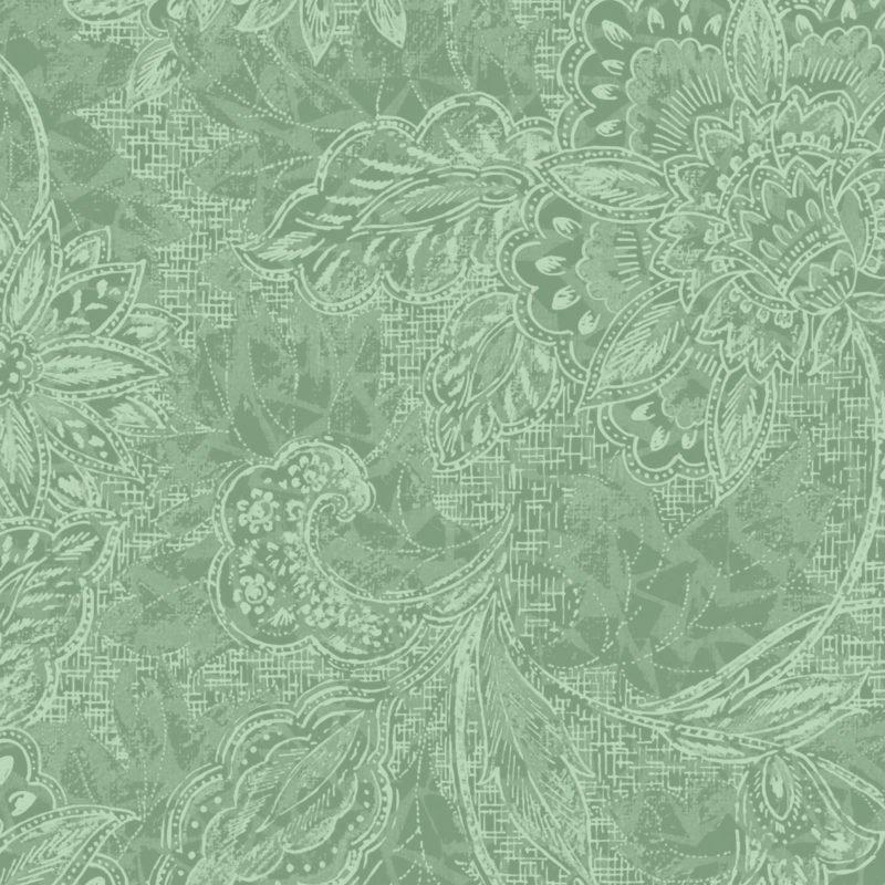 18-30811 118'' Oasis Fabrics Light Green Shadows Wide Backing