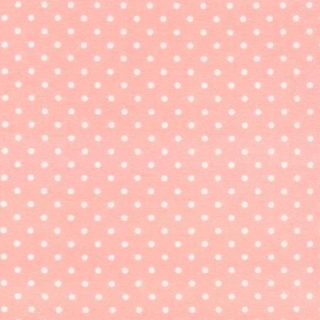 CF1820-SWEET 45'' Timeless Treasures Sweet Pink Polka Dot Flannel