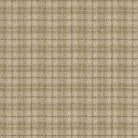 18502-T 45'' Maywood Studios Tan Plaid Woolies Flannel