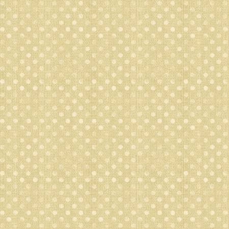 6814-221 108'' Wilmington Prints Tan Dotsy Wide Backing