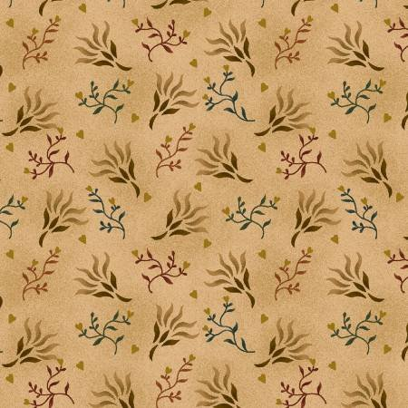 0894.44 108'' Henry Glass & Co. Beige Seaweed Wide Backing by Kim Dehl