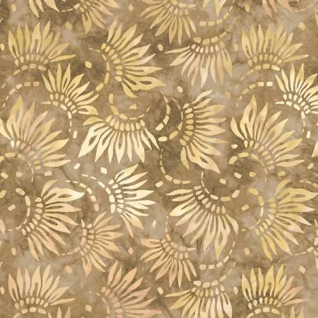 2086-212 108'' Wilmington Prints Tan Petals Wide Backing