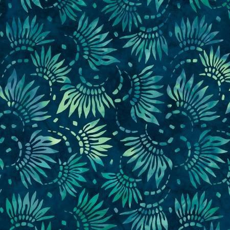 2086-474 108'' Wilmington Prints Teal Petals Wide Backing
