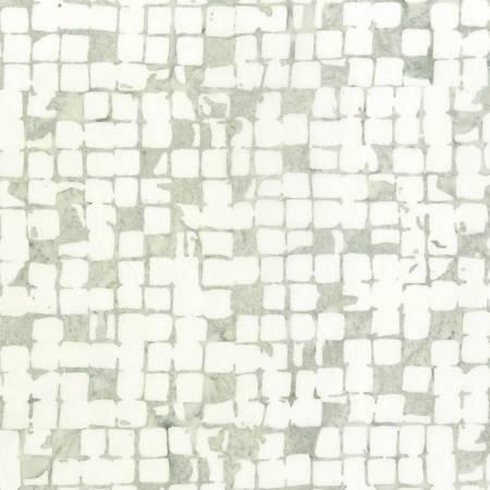 605Q-1 108'' Anthology White Modern Wide Back Batik