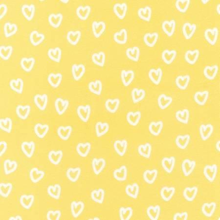 AAKF170475 45'' Robert Kaufman Yellow Heart Flannel