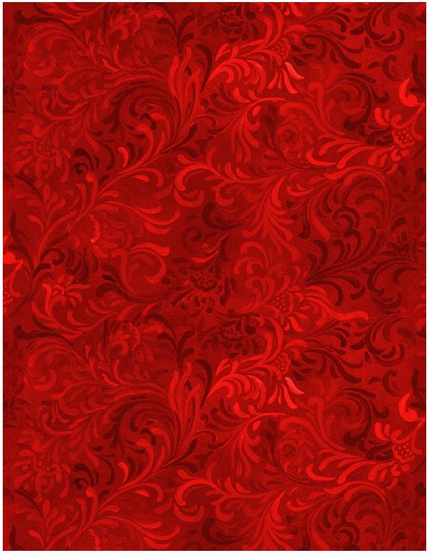 Essentials 108 wide back red swirls