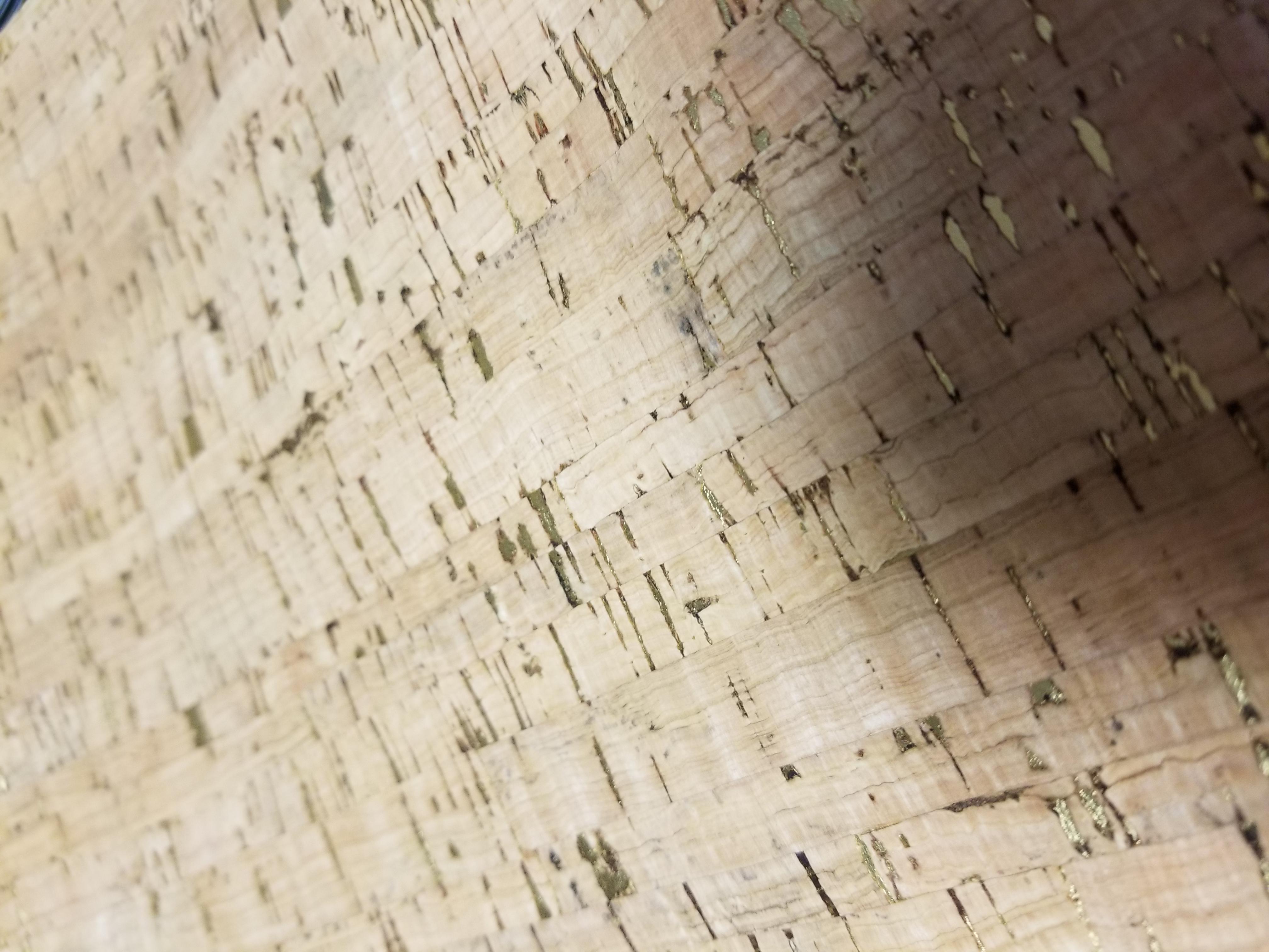Natural cork fabric with gold fleck Portuguese cork COP-322