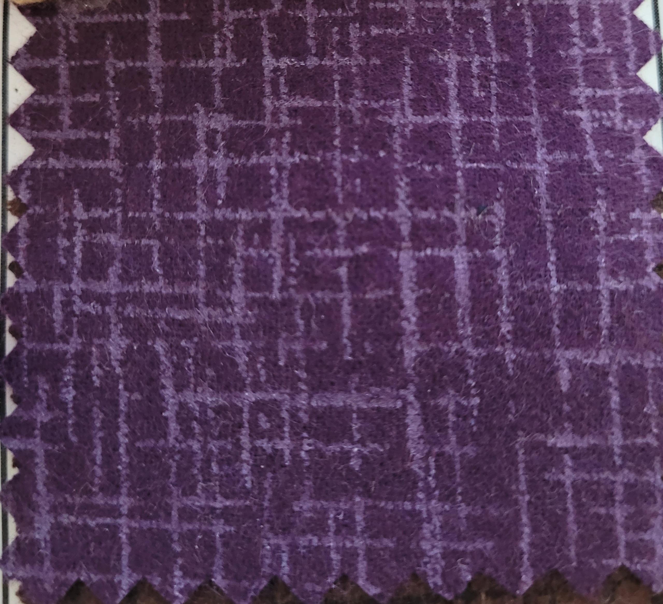 Betula Cotton flannel 109x98 - eggplant