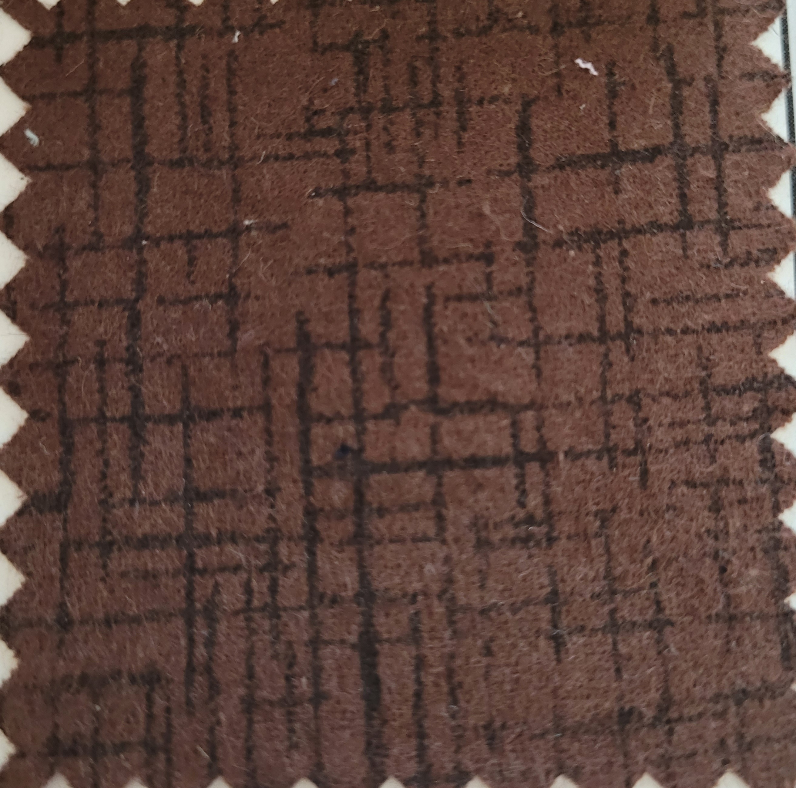 Betula Cotton flannel 109x98 - brown