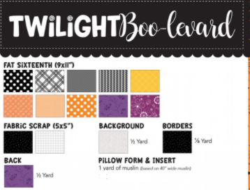 Fabric Kits for Kimberbell Twilight Boo-levard