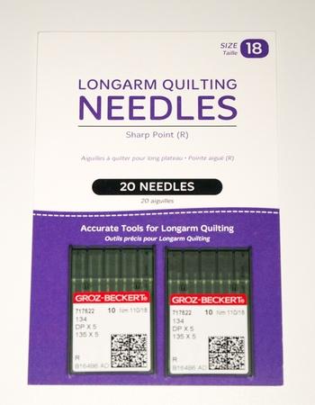 Standard Longarm Needles - 20 (18/110-R, Sharp)