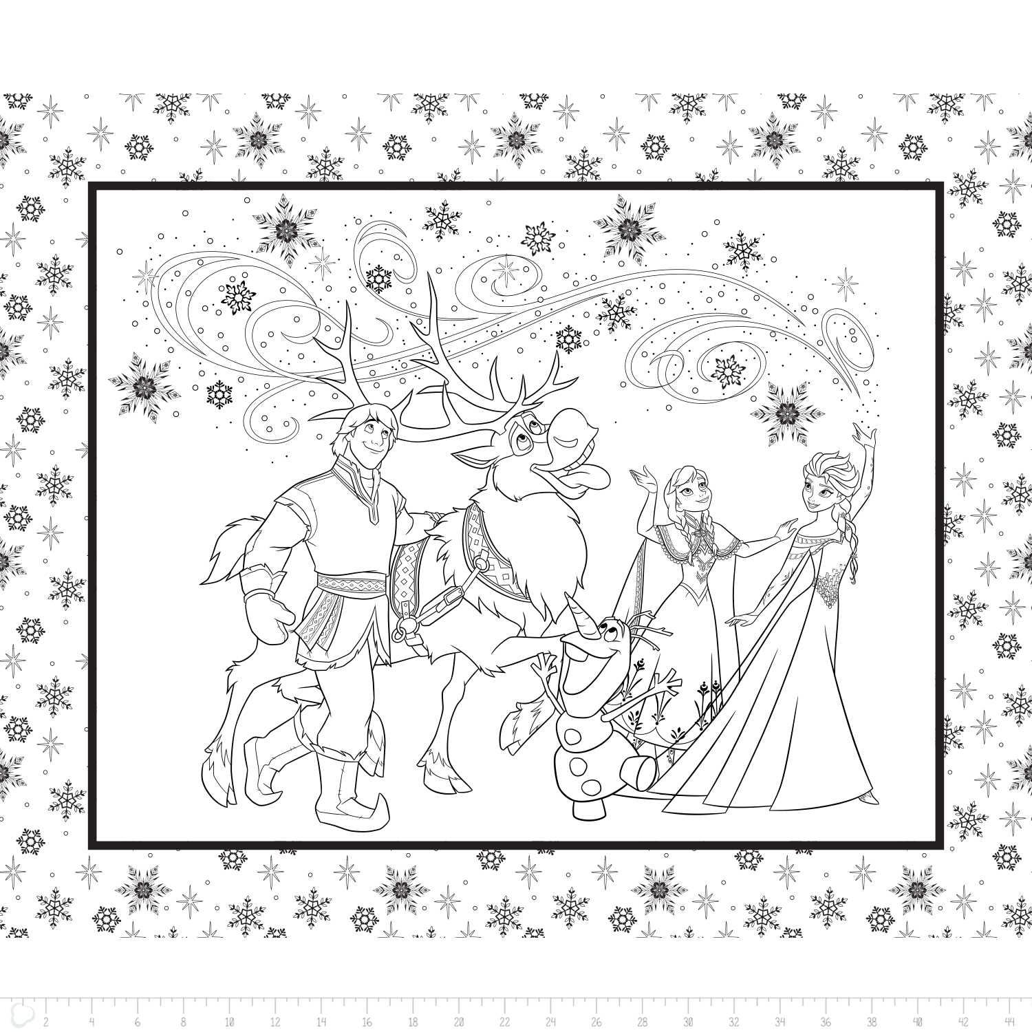 FROZEN COLORING BOOK PANEL - 85190206