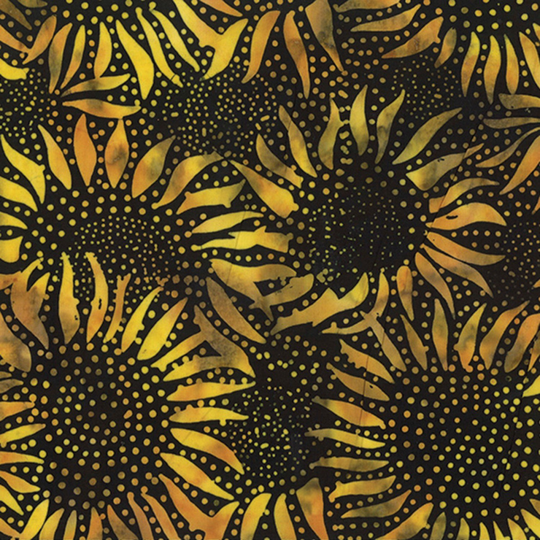 Golden Bali Batik Radiating Dots