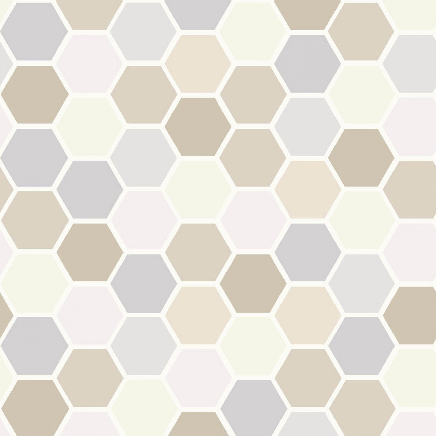 Taupe/Grey Mini Hexagons