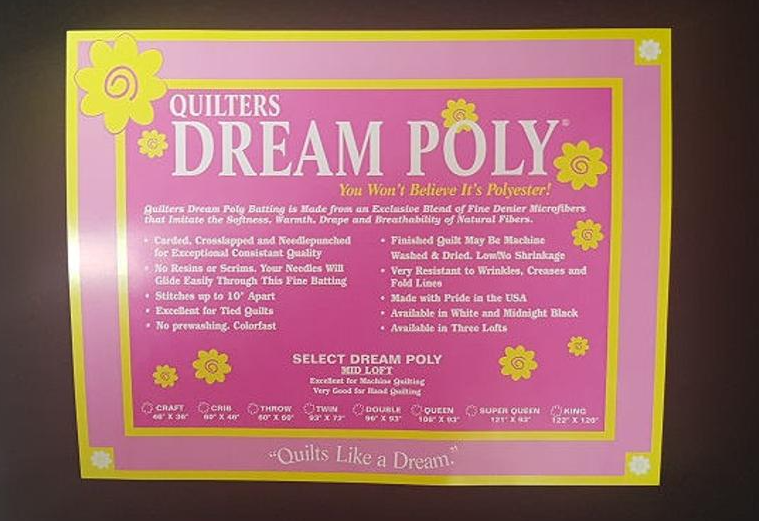Quilters Dream Dream Black Poly- Twin
