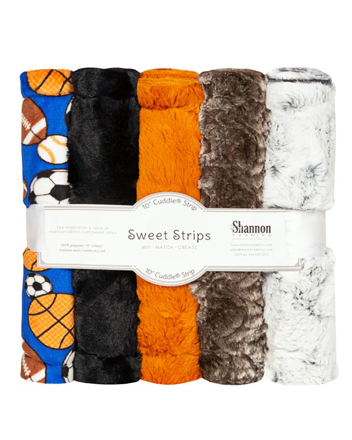FIVE 10 x 60 Luxe Cuddle® Strips Allstars