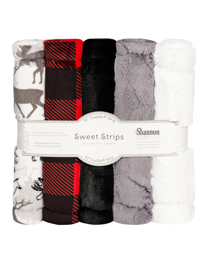 FIVE 10 x 60 Luxe Cuddle® Strips Scarlet Park