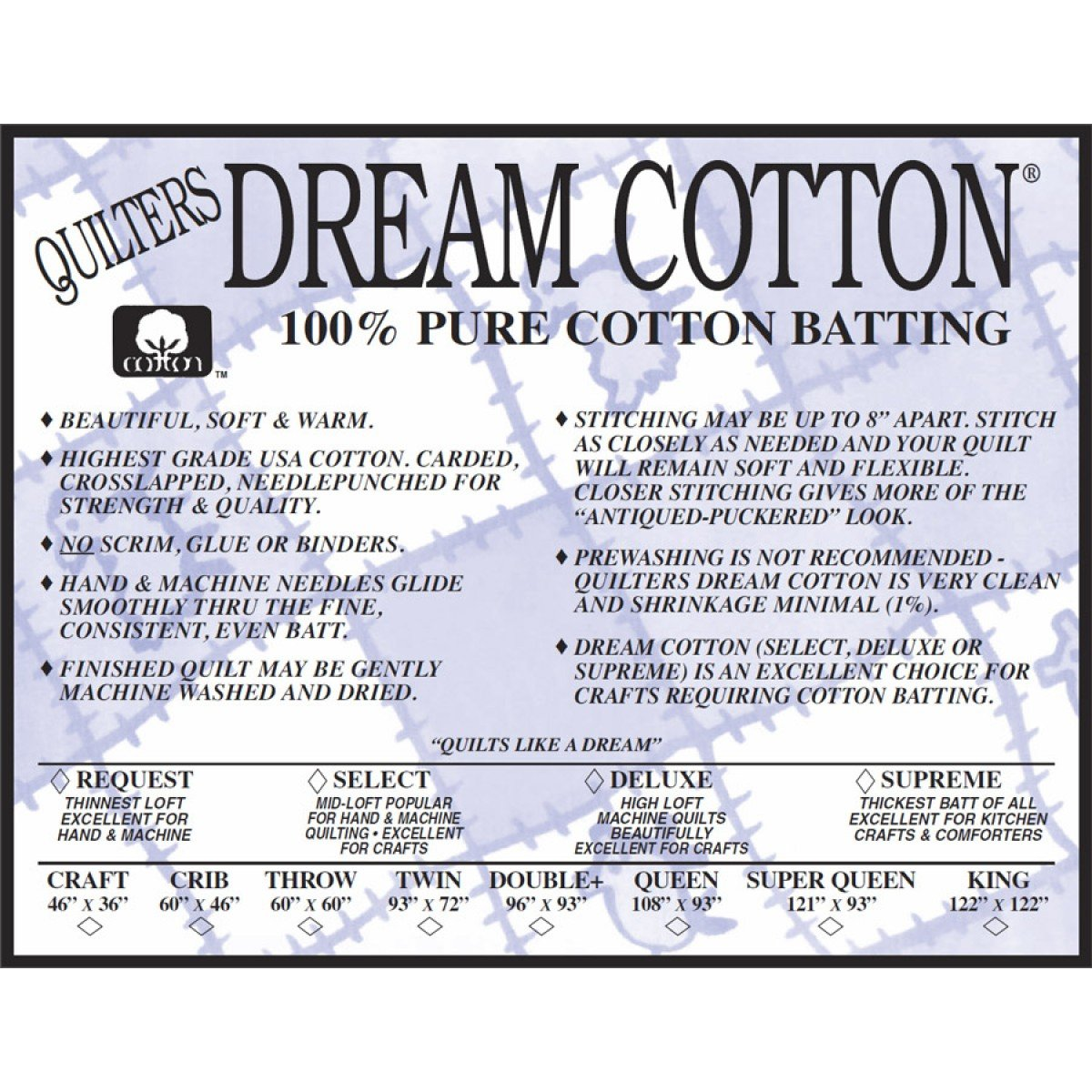QD Natural Cotton Deluxe Queen