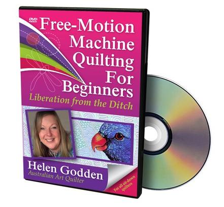DVD FREE MOTION MACHINE QUILTING FOR BEGINNERS HELEN GODDEN SITDOWN