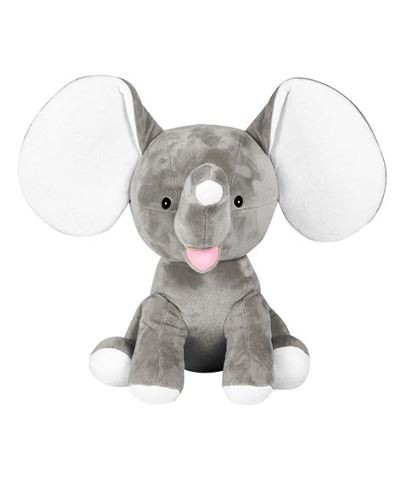 Cubbies Grey Dumble Elephant Embroidery Blanks