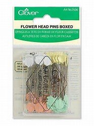 Flower Head Pin Size 32 - 2in 100ct 4 colors