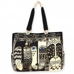 Oversize Tote Wild Cat Black & White