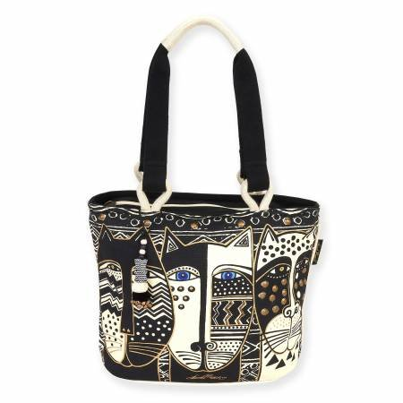 Medium Tote Wild Cat Black & White