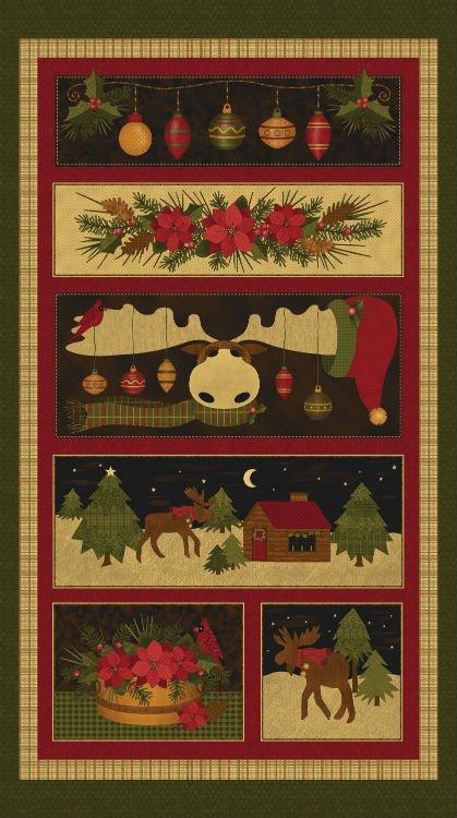 A MOOSE FOR CHRISTMAS PANEL #319