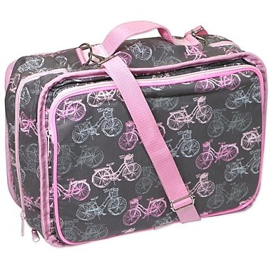 CRAFT & ACCESSORY TOTE PINK BYCICLE