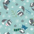 CF-Winter Wonderland - Foxes - Rainwater