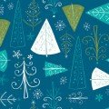 CF-Winter Wonderland - Trees - Blue