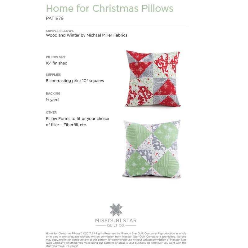 MSQC--Home For Christmas Pillows