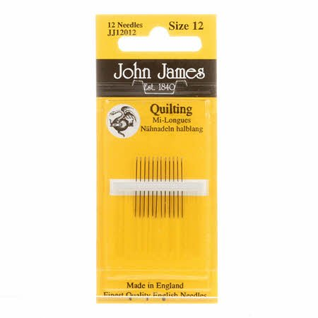 John James Hand Quilting (Betweens) Needles Size 12