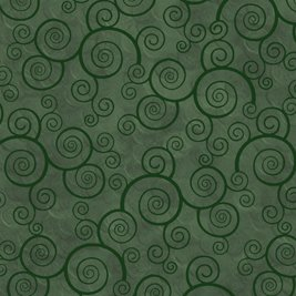 Swirl in Evergreen by Quilting Treasures