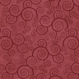 Curly Scroll in Paprika by Quilting Treasures