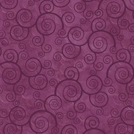 Curly Scroll in Plum Velvet by Quilting Treasures