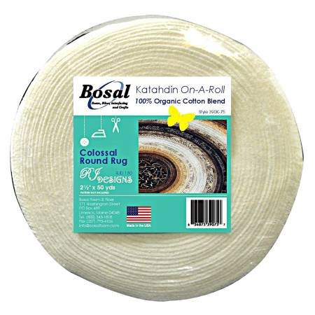 Bosal White Katahdin on a Roll, 2 1/2 x 50 Yards for Jelly Roll Rugs