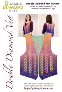 Pattern Double Diamond Vest Bright Quilting Notions