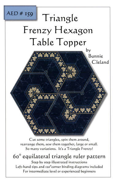 Pattern Triangle Frenzy Hexagon Table Topper by Bunnie Cleland