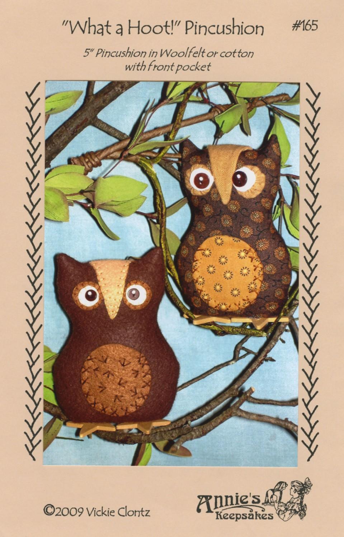 Pattern What a Hoot Pincushion by Annie's Keepsakes