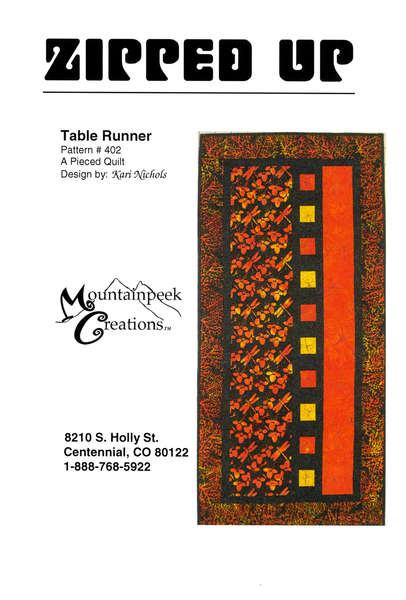 Pattern Zipped Up Table Runner by Mountainpeek Creations
