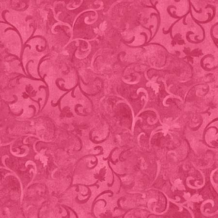 Magenta Scroll  by Wilmington Prints