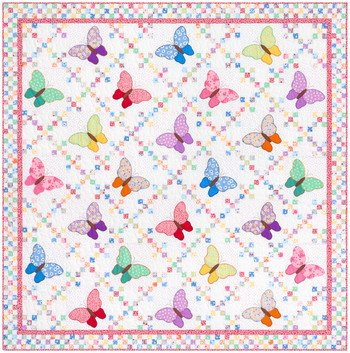 Aunt Ella's Butterflies Quilt Kit - Order by January 20th for 20% Off!