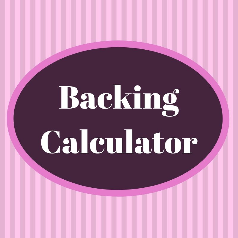 FREE CCQS Backing Calculator