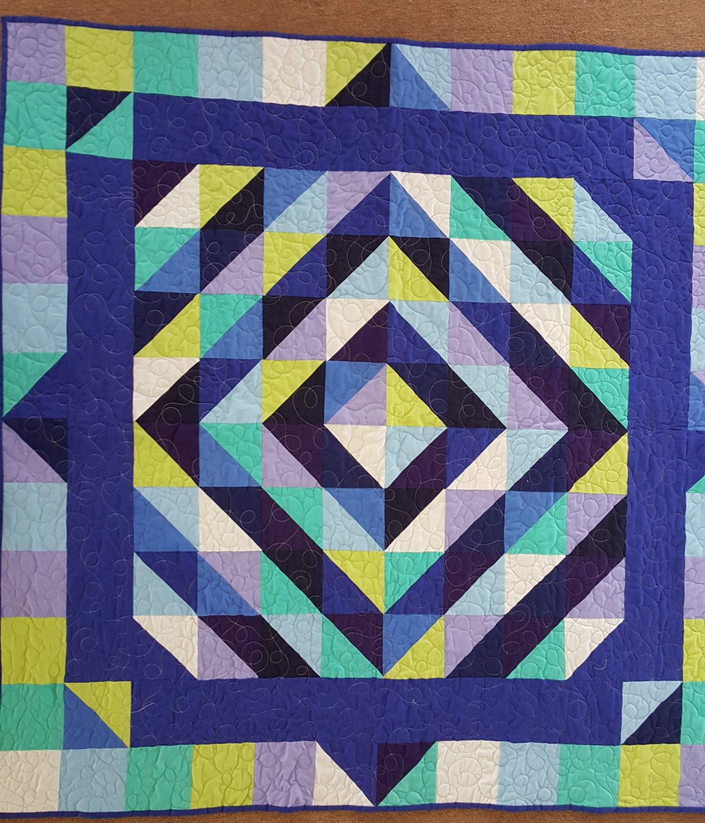 Study in Blue Lap Quilt