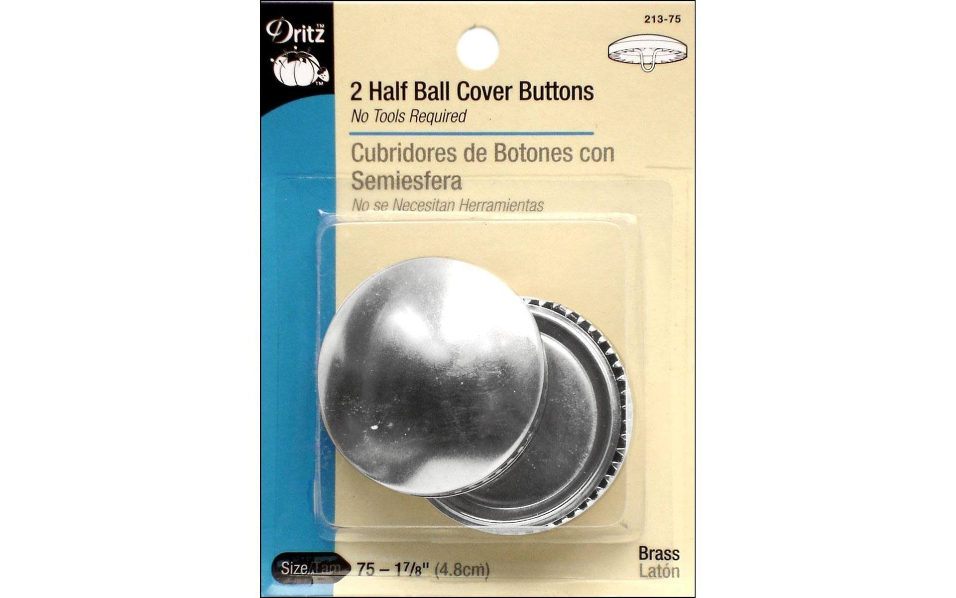 2 Half Ball Cover Buttons by Dritz