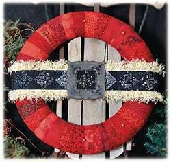 Pattern Ho Ho Ho Wreath by Happy Hollow Designs